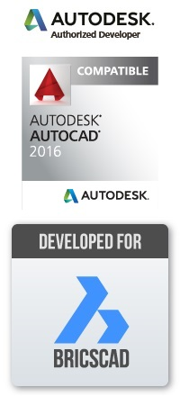 Compatible with AutoCAD and BricsCAD