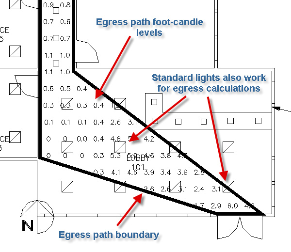 Point By Point Egress Photometric Calculations