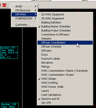 Displaying Toolbars in AutoCAD - Design Master Software