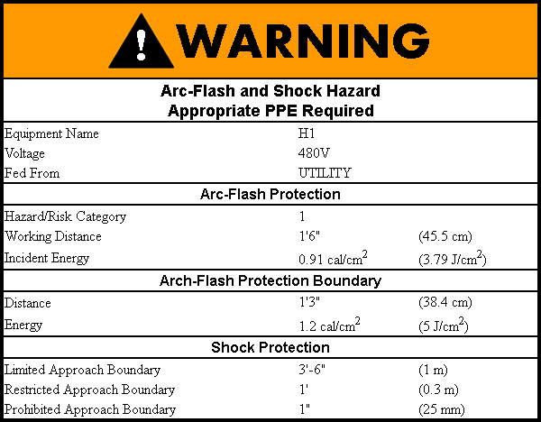 Arc-Flash Warning Label