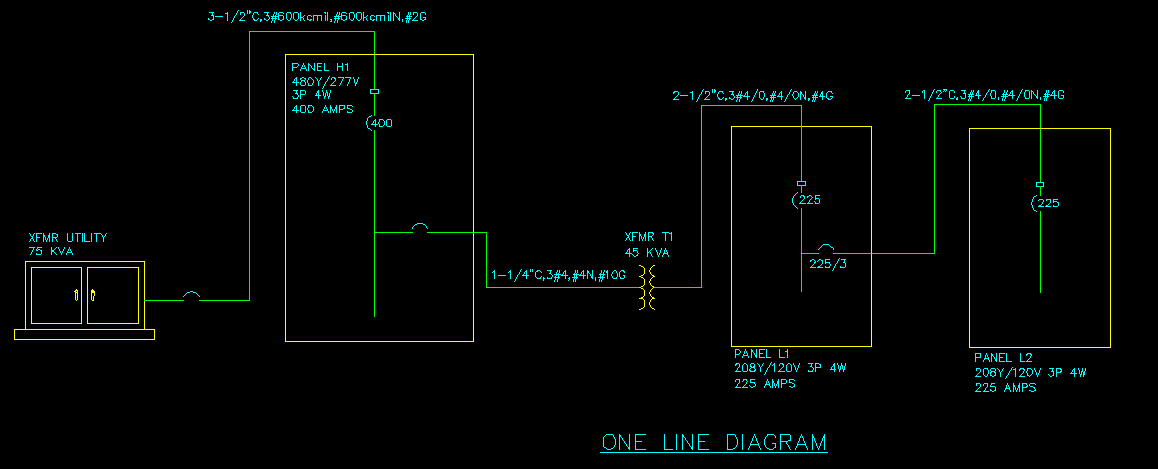 One Line Diagram Design Master Software - Electrical Line Diagram