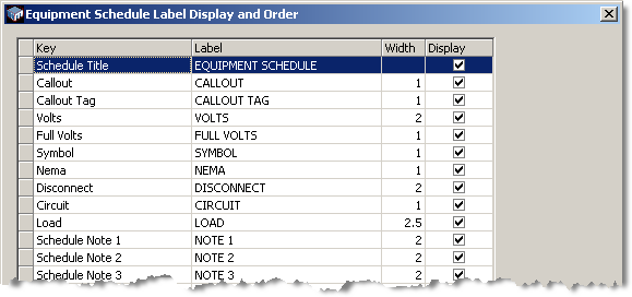 equipment connections and schedule design master software